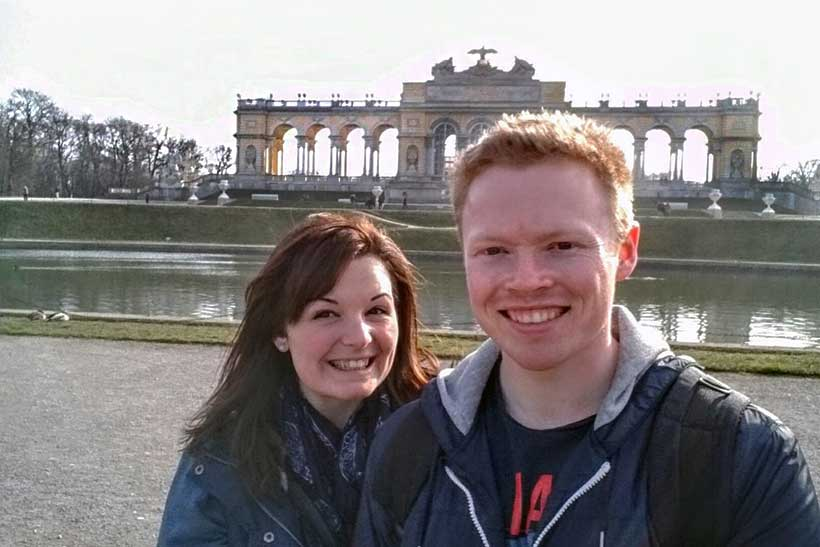 Brie-Anne and husband in Vienna